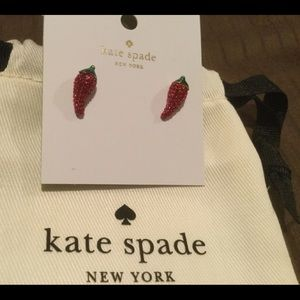 kate spade Extra Spicy Chili Pepper Stud Earrings